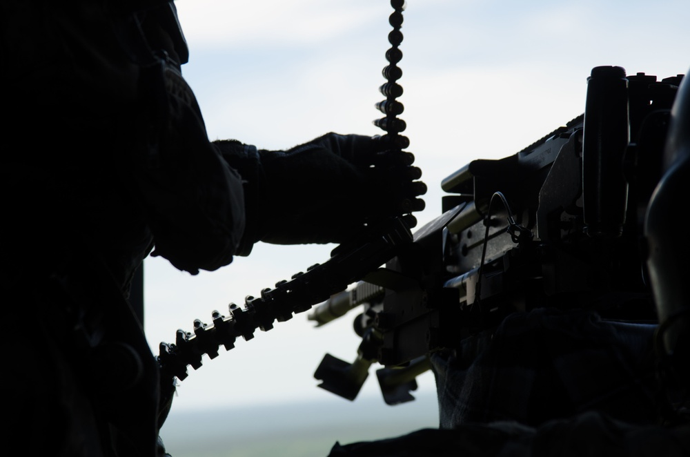 Florida Guard door gunners conduct Aerial Gunnery training in Camp Shelby