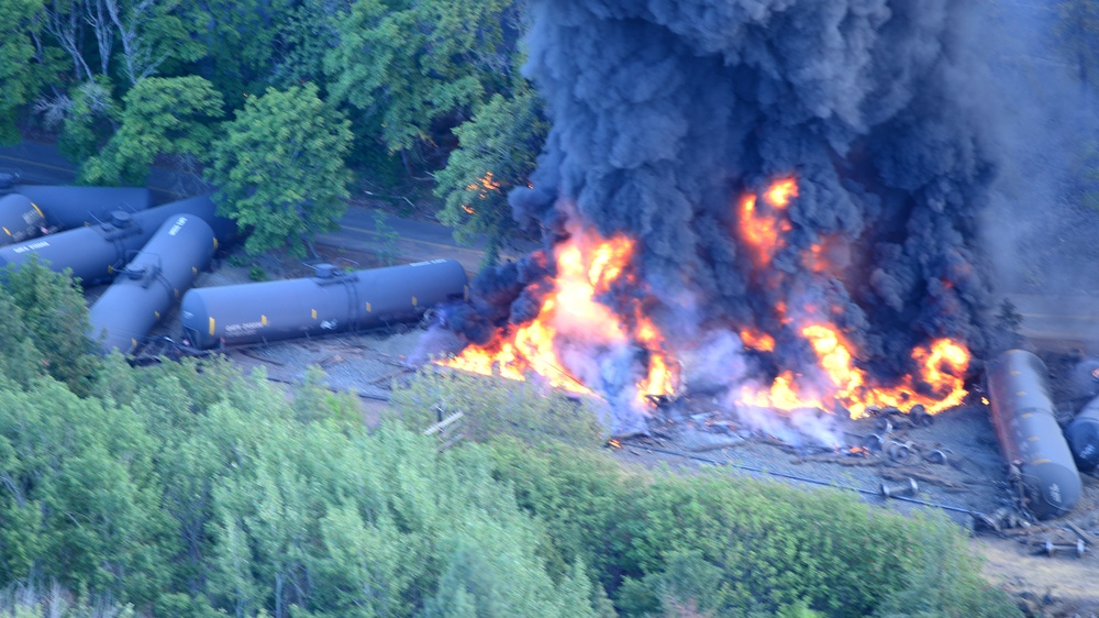 Federal, state and local agencies respond to Oregon train derailment