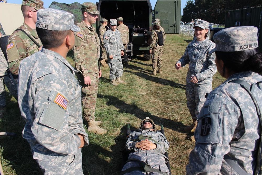 212th Combat Support Hospital kicks off Multi-COMPO support for ANAKONDA 16