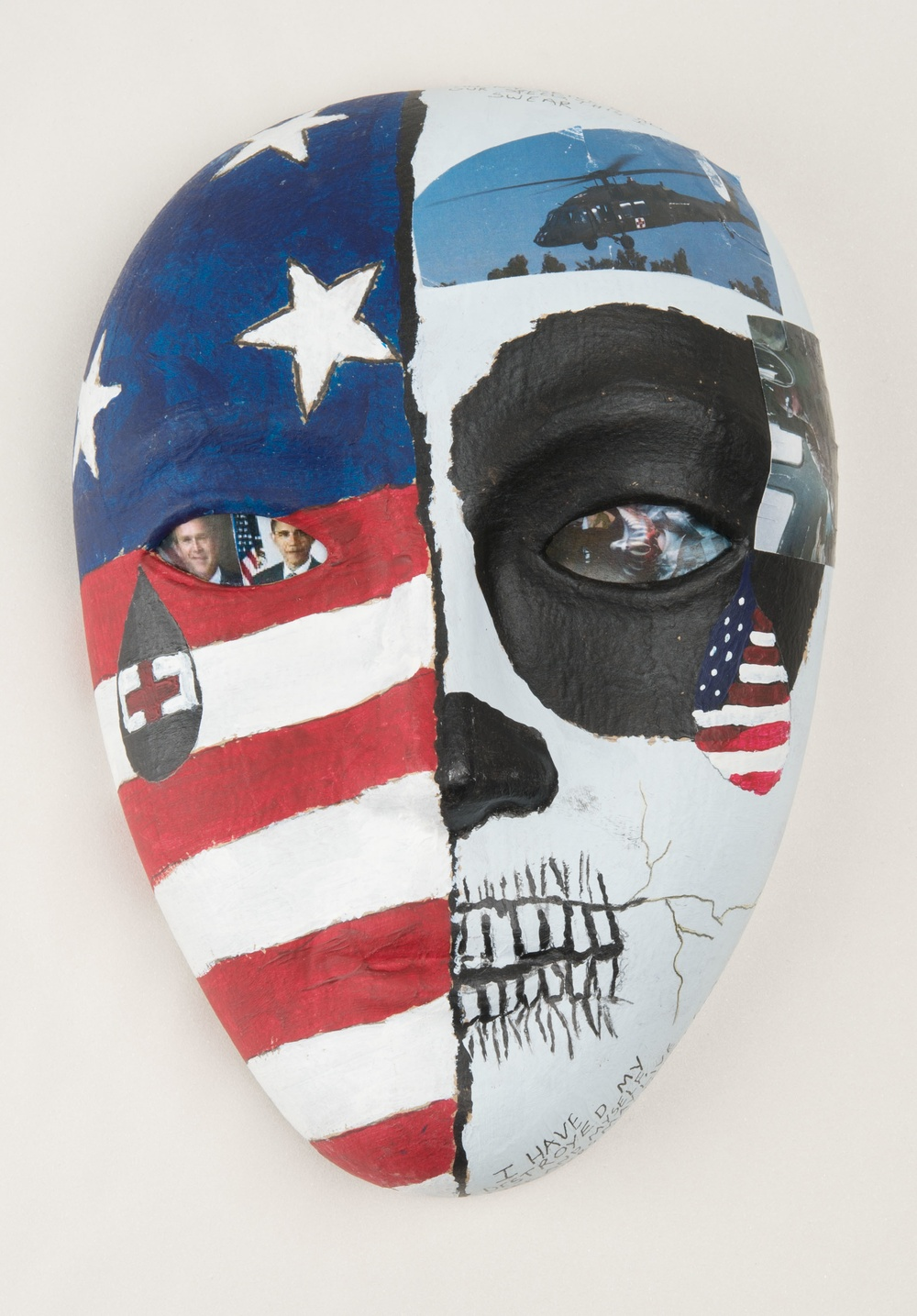 Art Therapy Masks, NICoE/Walter Reed, on Display at NMHM Aug-Sept 2016