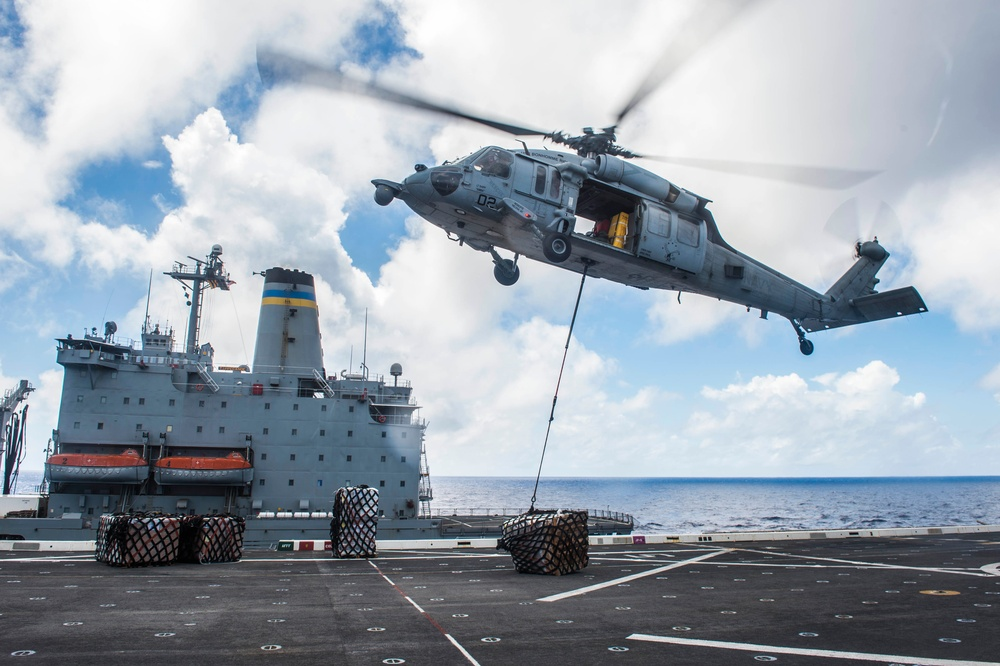 Green Bay conducts vertical replenishment