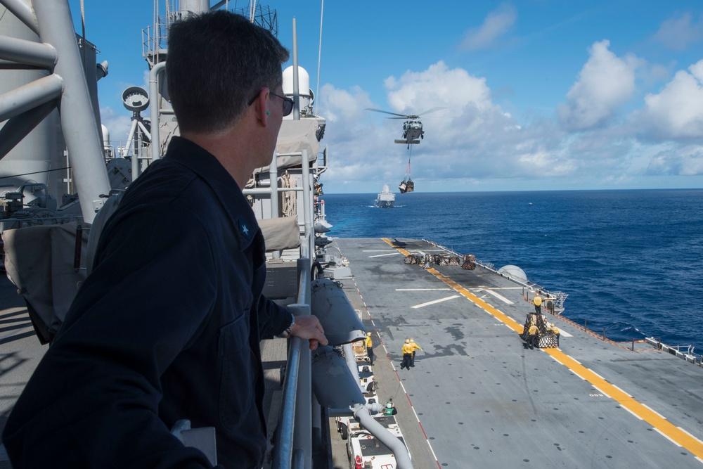 USS Bonhomme Richard Conducts Replenishment at Sea