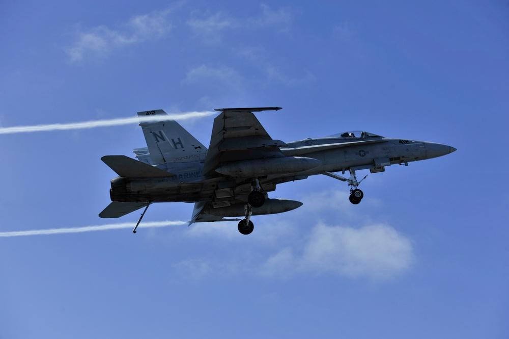 F/A-18C Hornet in flight