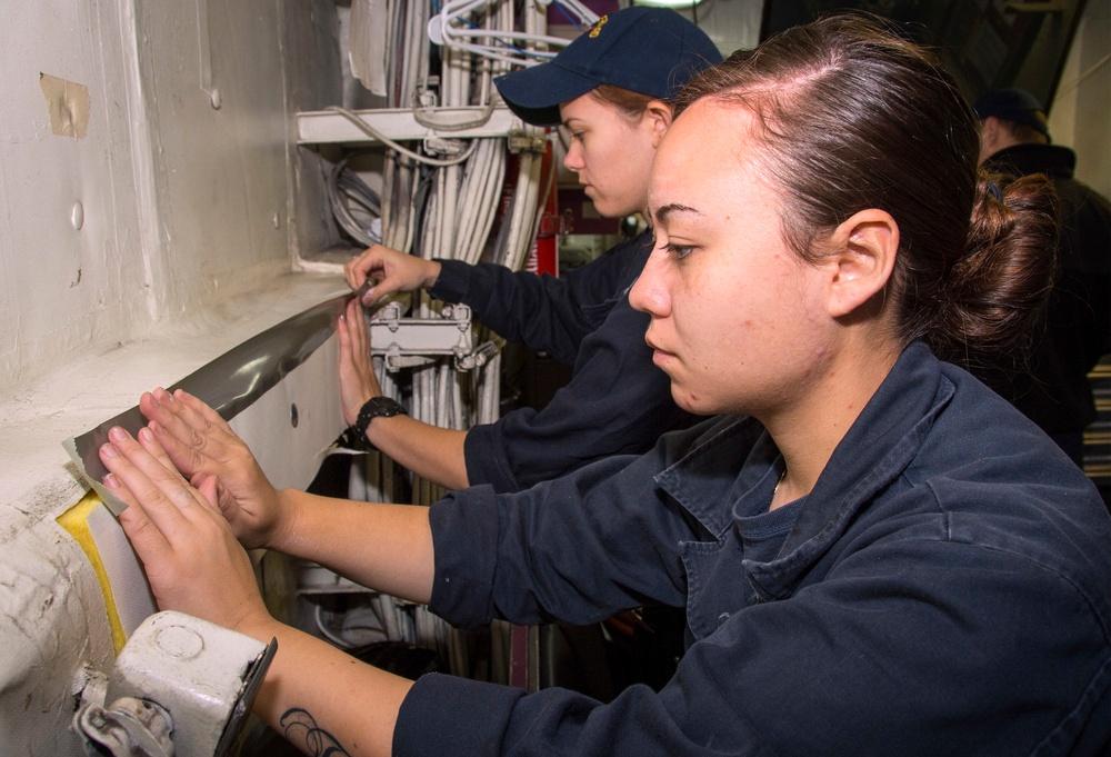 USS Bonhomme Richard (LHD 6) Lagging Repairs