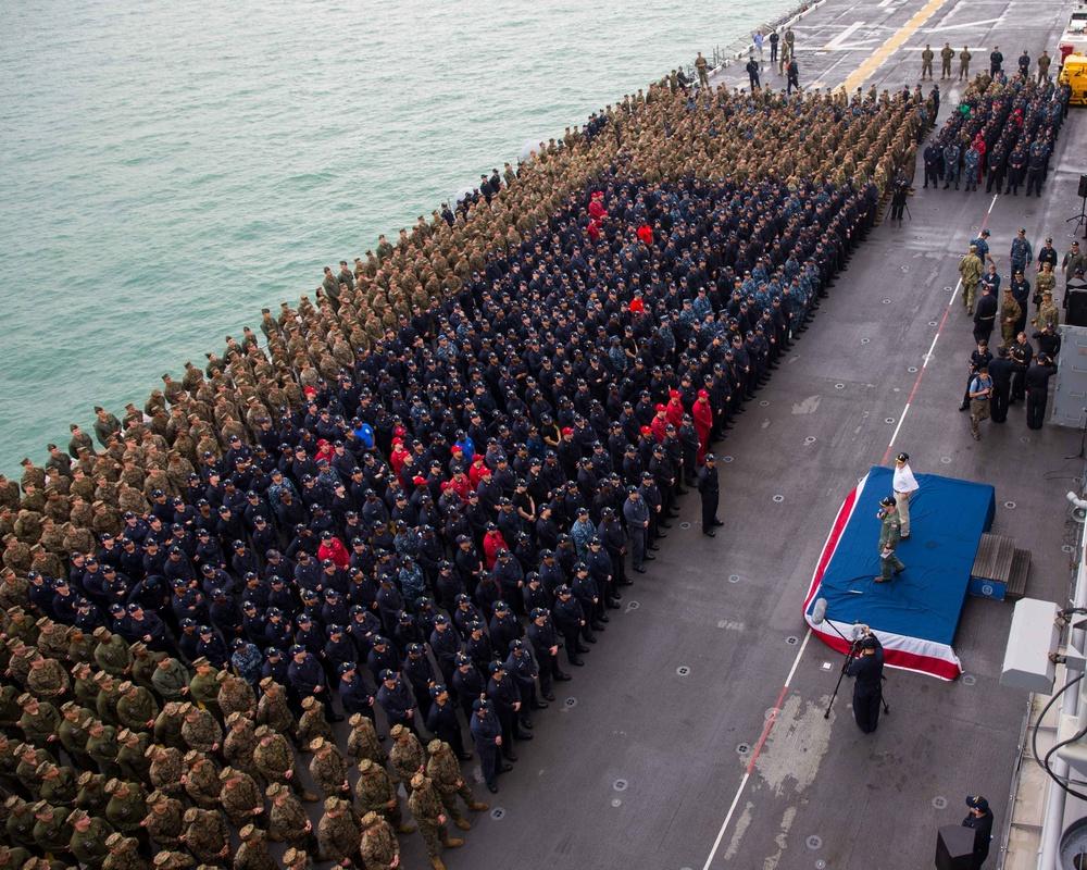 11th Marine Expeditionary Unit - Secretary of the Navy Ray Mabus Visit