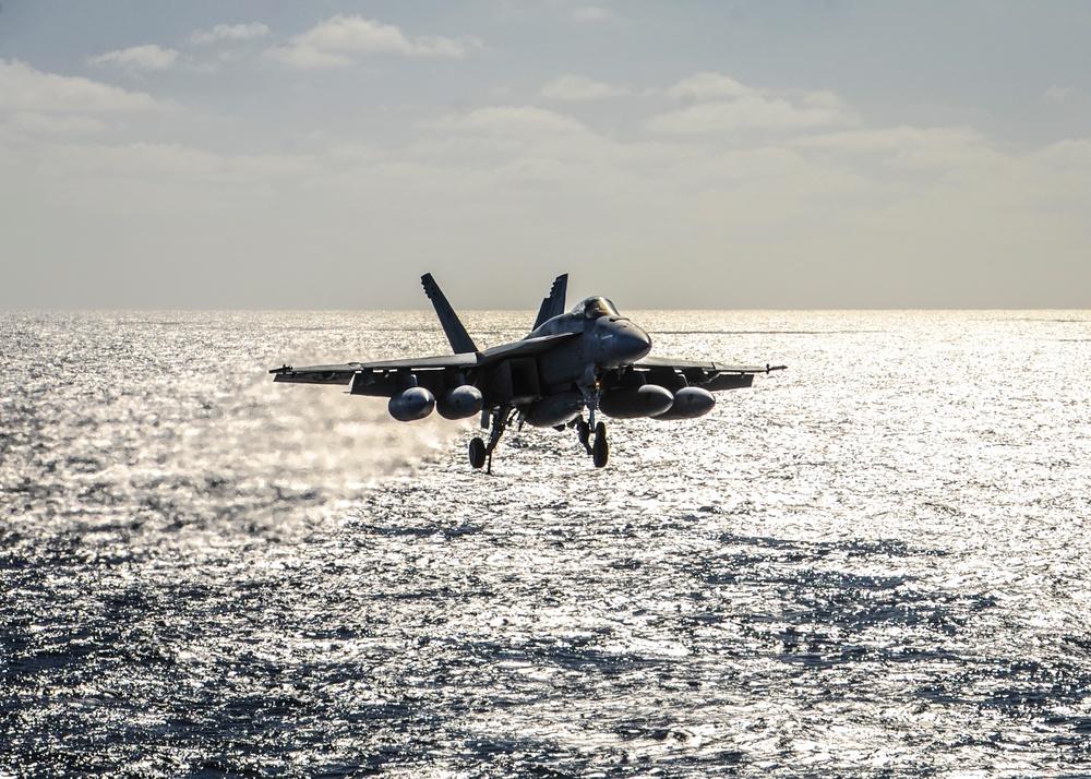 Super Hornet Prepares to Land