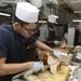 Sailors cook Thanksgiving dinner