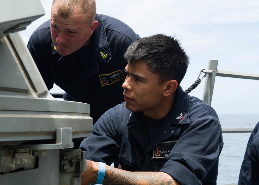 USS Sampson Gun Ops