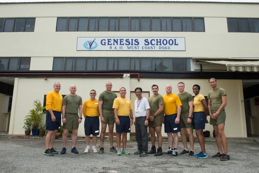 USS Makin Island Sailors Participate In Singapore COMREL