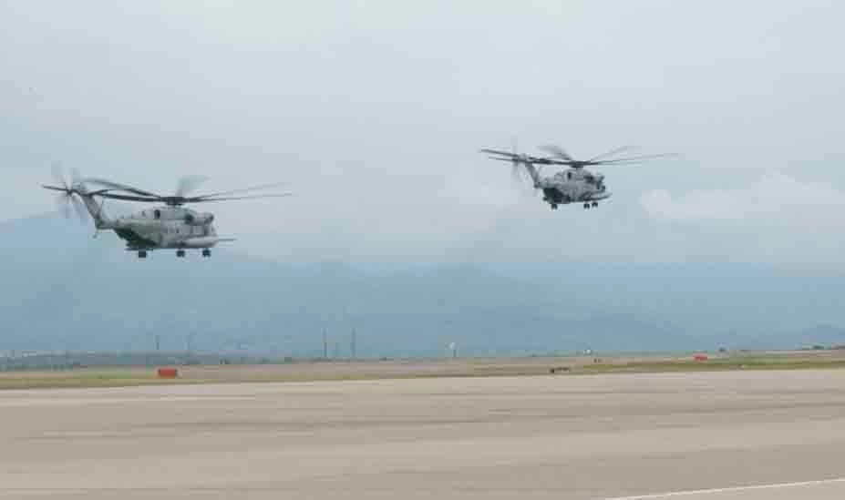 SPMAGTF-SC CH-53E Super Stallion helicopters return from deployment