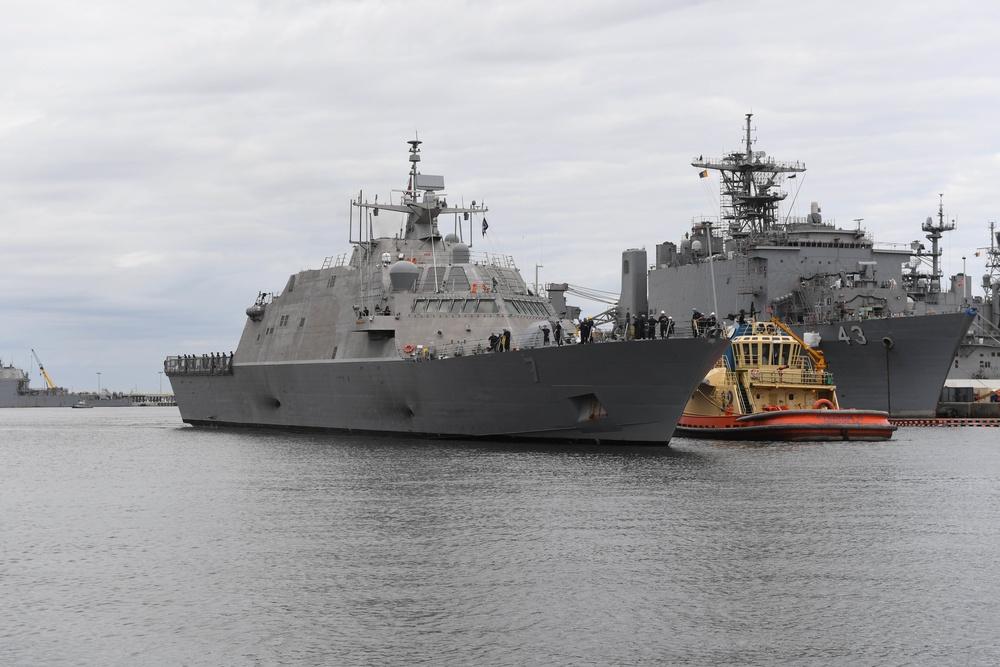 USS Detroit Arrives at Home Port