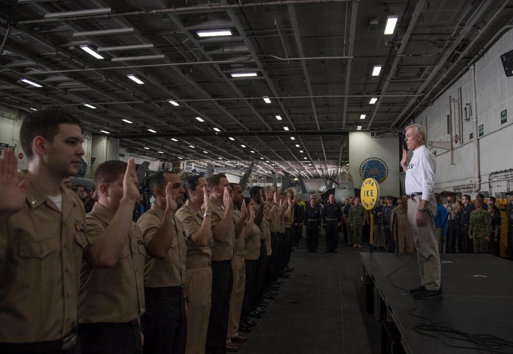 Dwight D. Eisenhower deployment