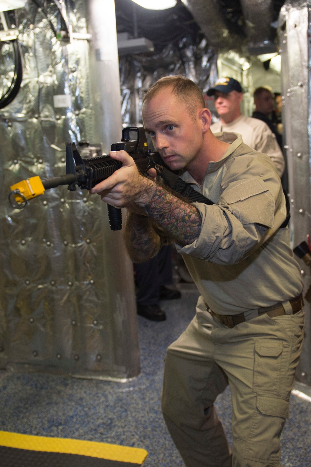 USS Coronado (LCS 4) sailors conduct VBSS training