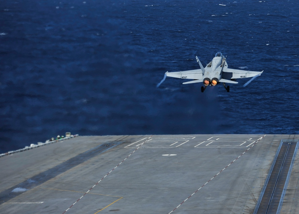 F/A-18C Hornet takes off