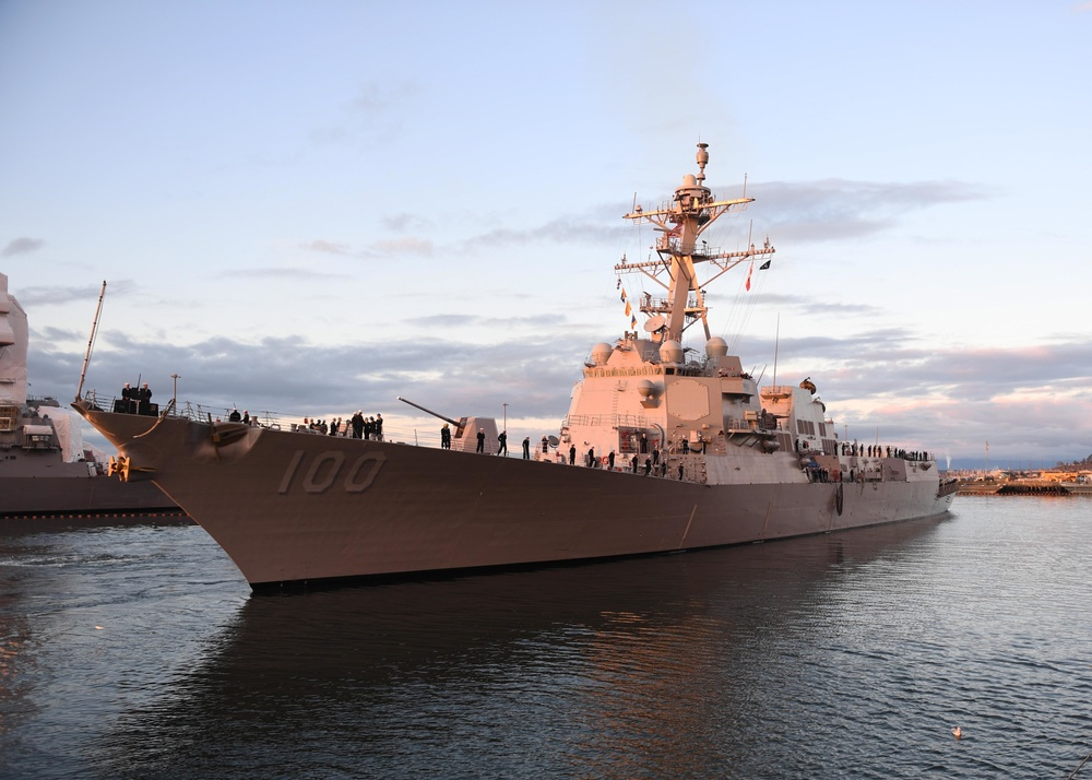 USS Kidd Homeports in NSE