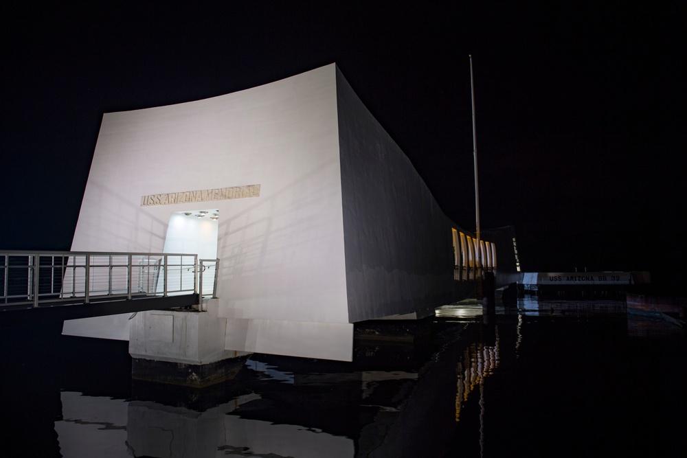 Floral Tribute Honors USS Arizona Memorial