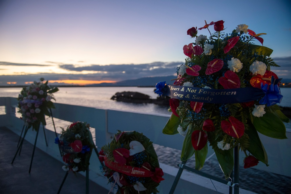 Utah Memorial Sunset Service on Ford Island