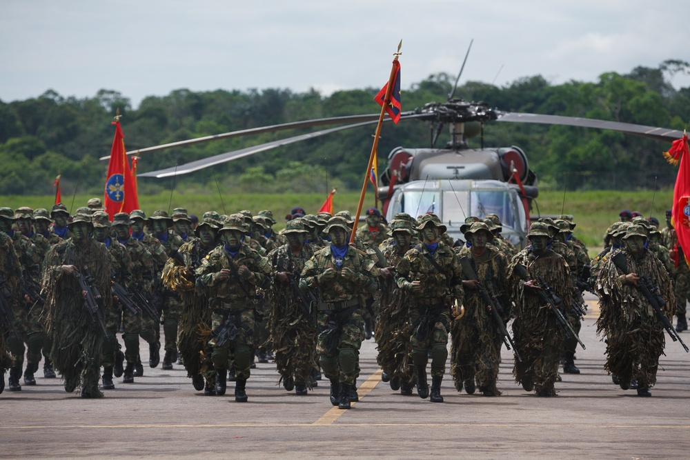 Colombian army counter-narcotics brigade honors U.S. Special Forces