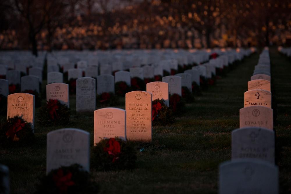 Sunrise over Arlington National Cemetery