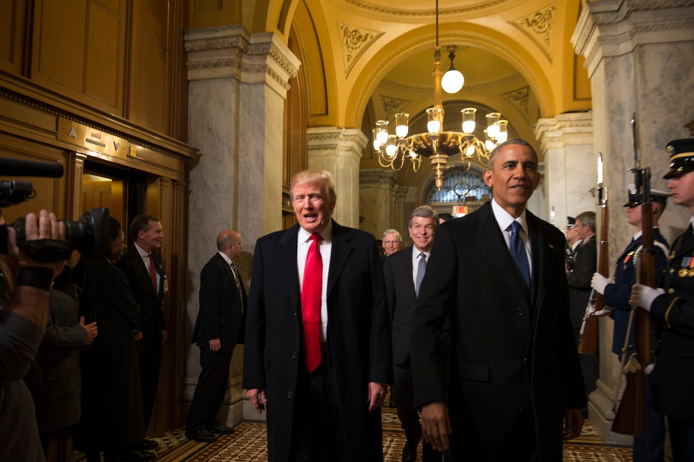 Obama hands over presidency to Trump at 58th Presidential Inauguration