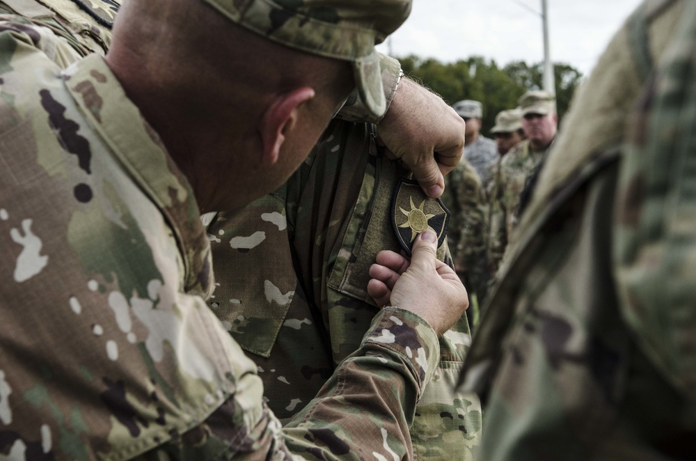 Patching ceremony paves the way for 254th Transportation to align mission