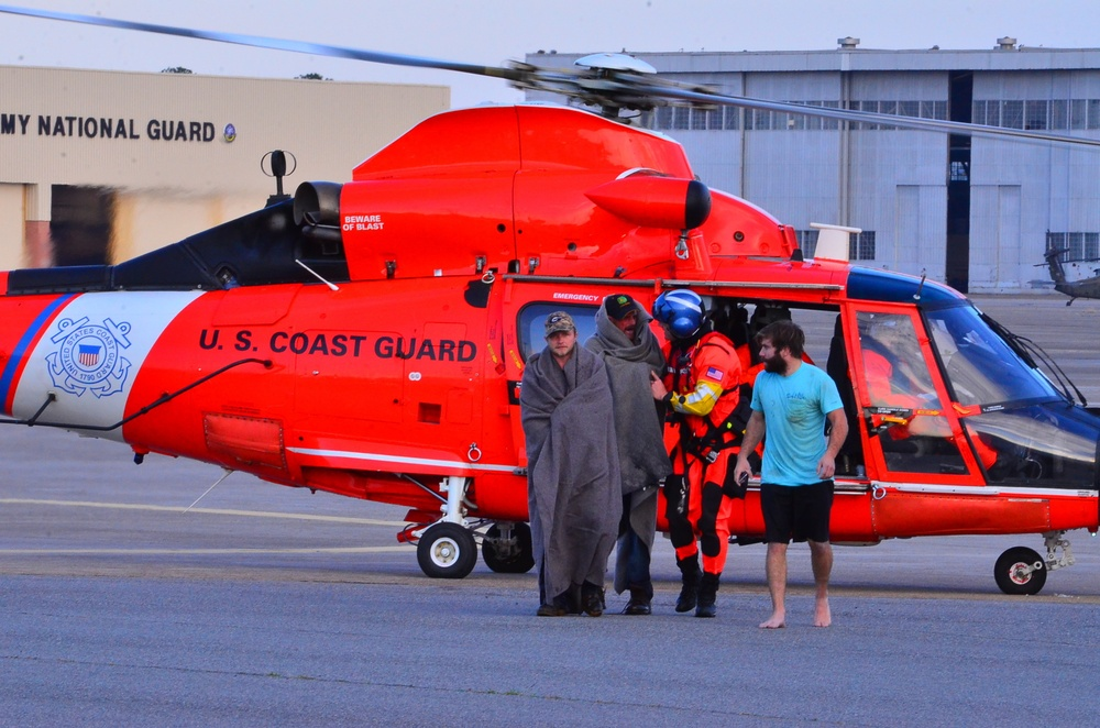 Coast Guard rescues 3 fishermen after vessel catches fire near St. Catherines Island, Ga.