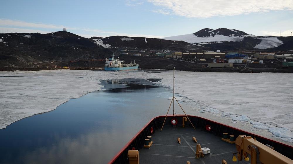 Coast Guard Cutter Polar Star operates in Antarctica