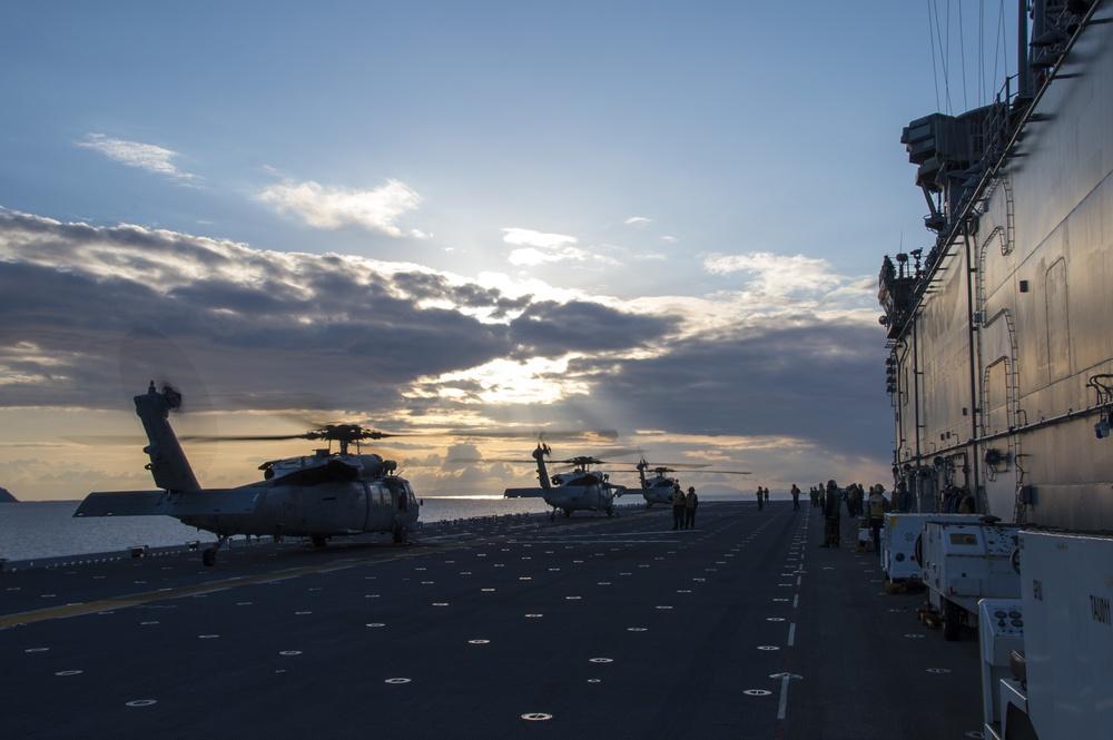 HSC 25 embarks USS Bonhomme Richard (LHD 6)