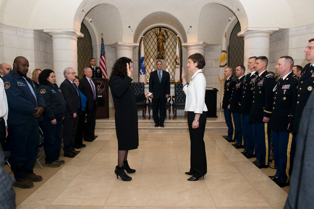 Senior Executive Service induction ceremony for Katharine Kelley, superintendent, Arlington National Cemetery