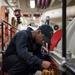 Line shaft bearing oil check aboard USS Bonhomme Richard