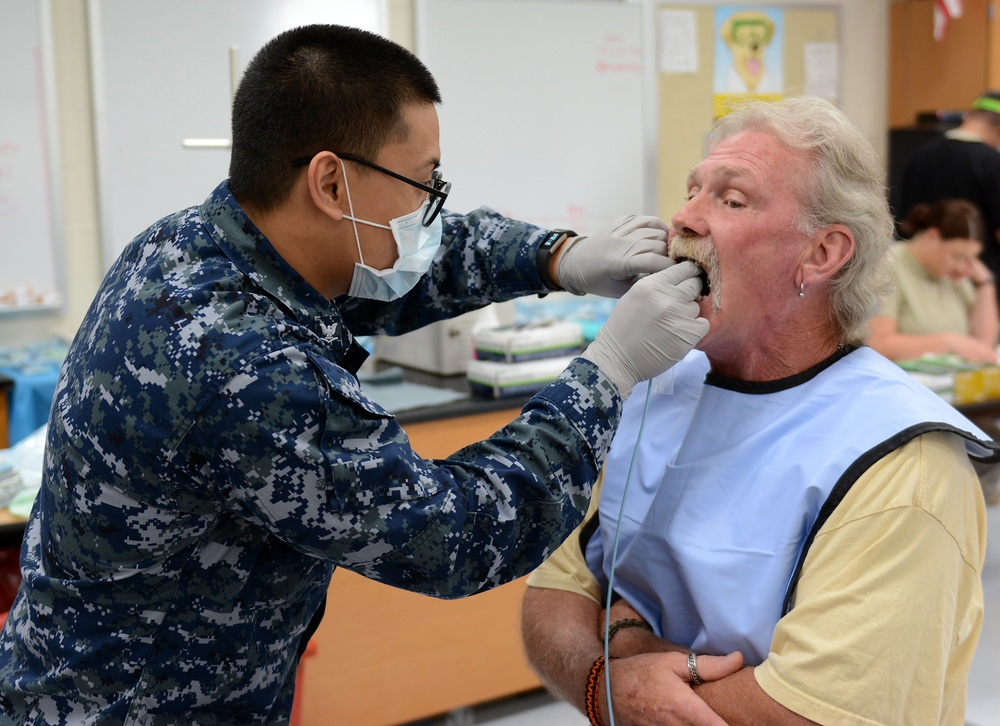 125 MDG joins other forces in Mountain Home, AR, giving much needed health care to locals