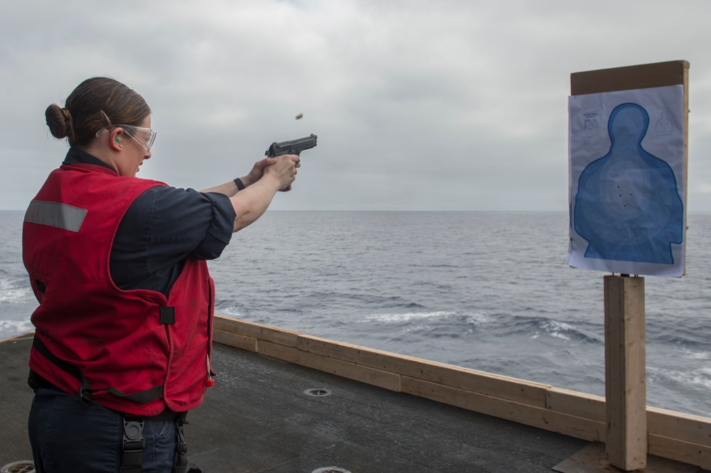 Sailor Shoots Pistol