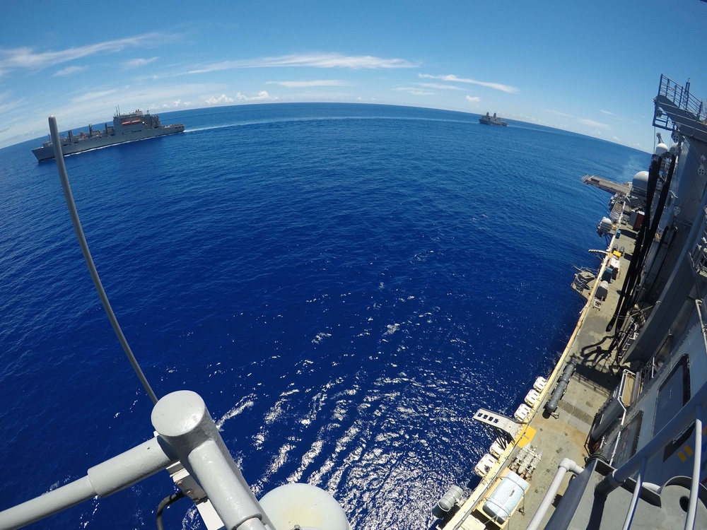 USS Bonhomme Richard Replenishment at Sea