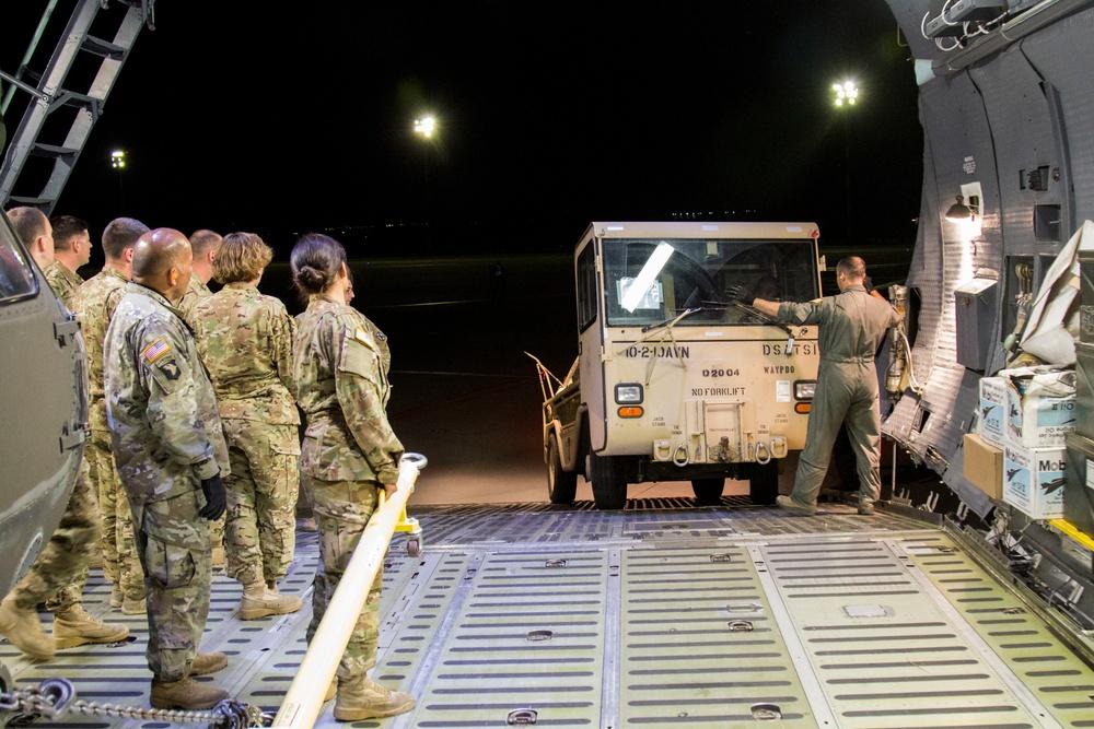 U.S. Army Aviators demonstrate rapid global deployment capabilities with U.S. Air Force
