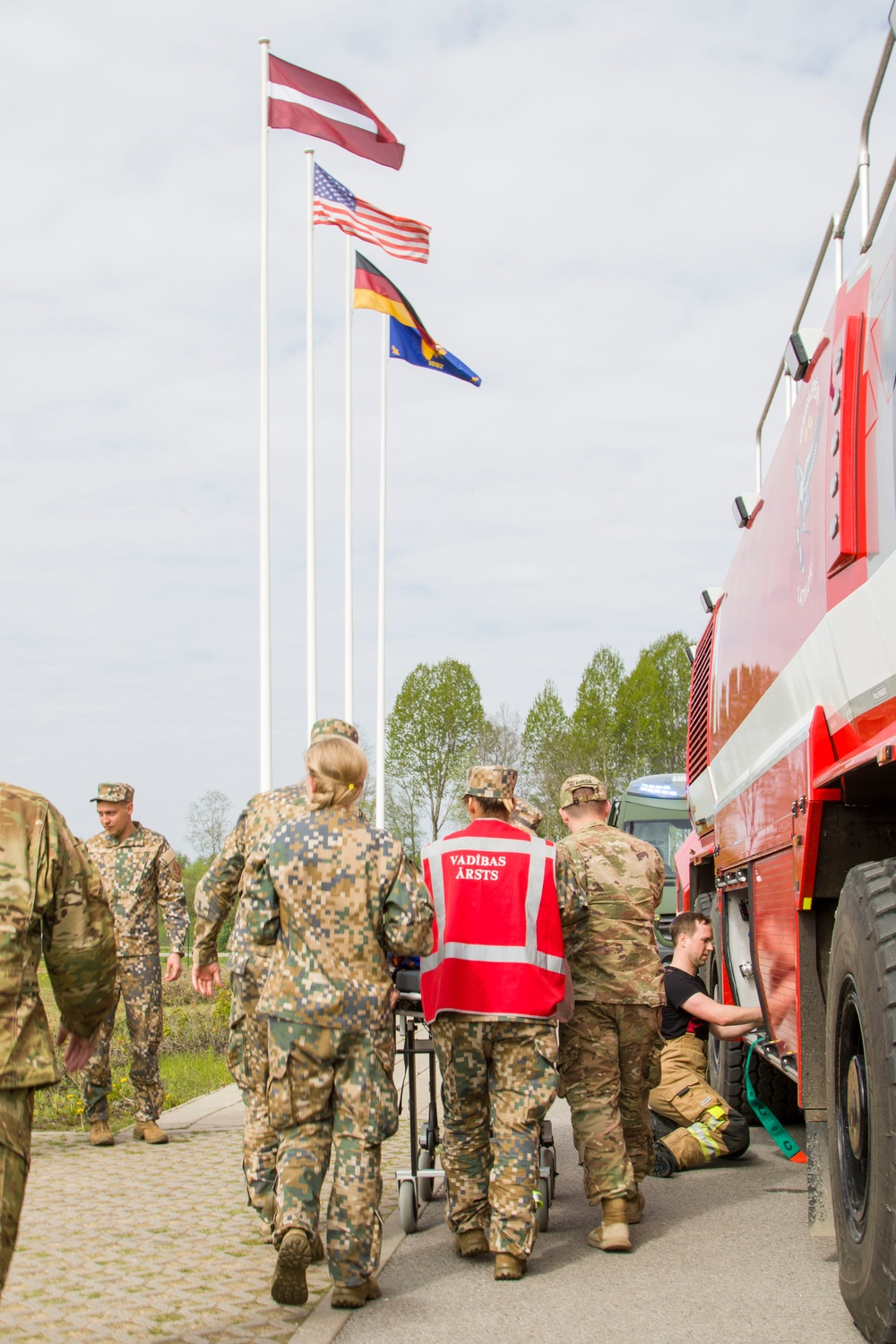 Emergency preparedness drill preps Latvian and U.S. Armies to work together in any contingency