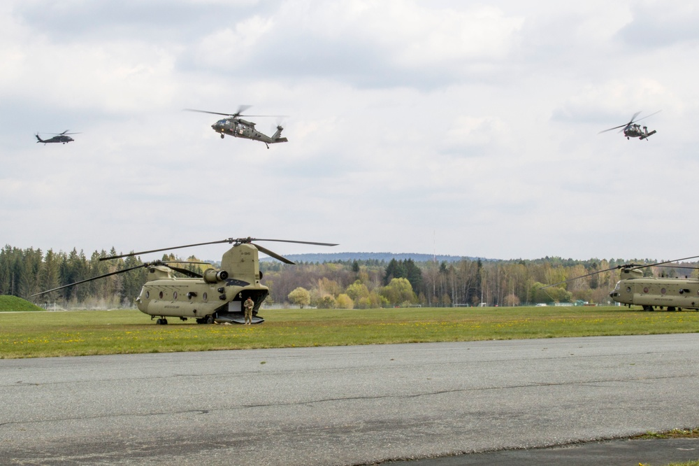10th CAB aircraft arrive for Summer Shield exercise in Germany