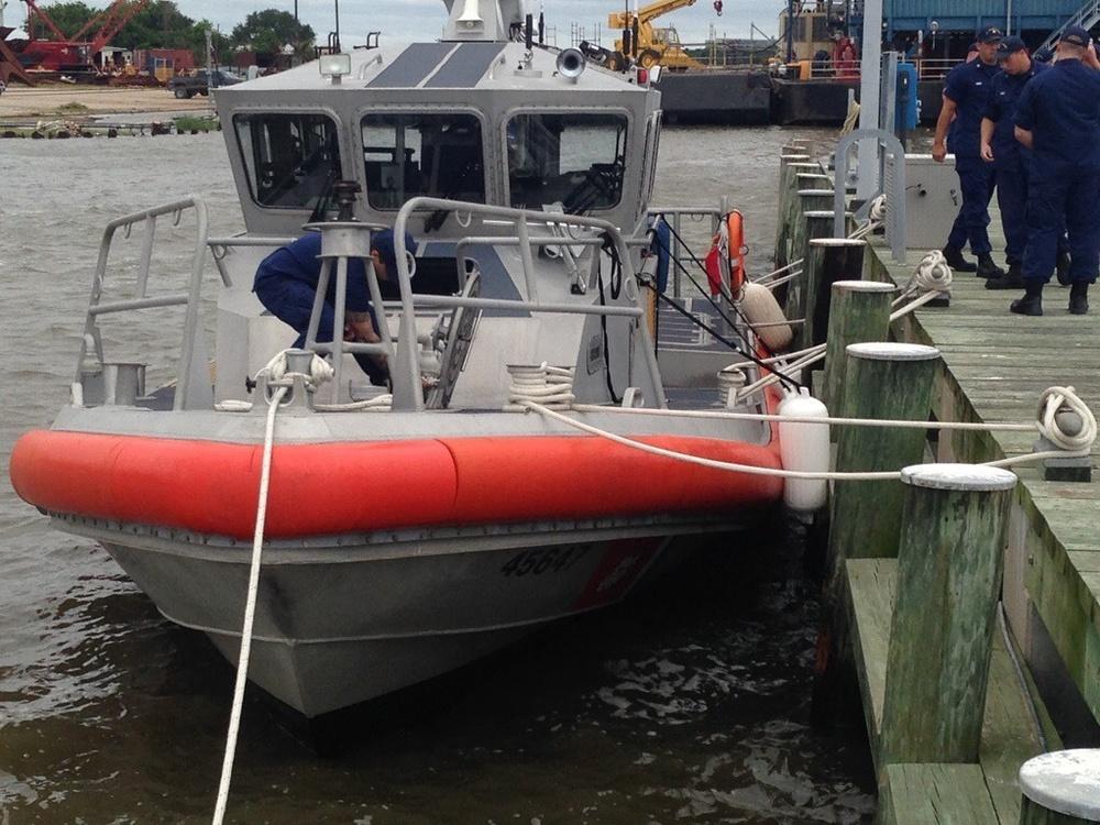 Coast Guard Station Sabine Pass prepares for Tropical Storm Cindy