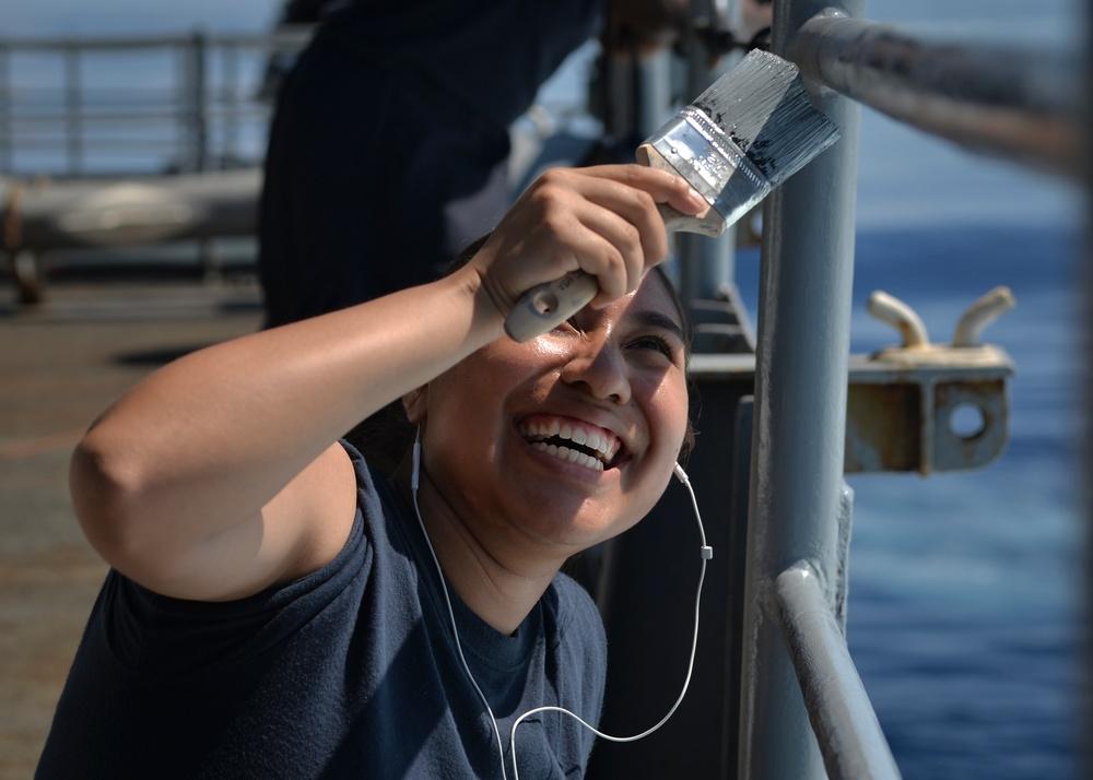 Sailors Paint Nimitz