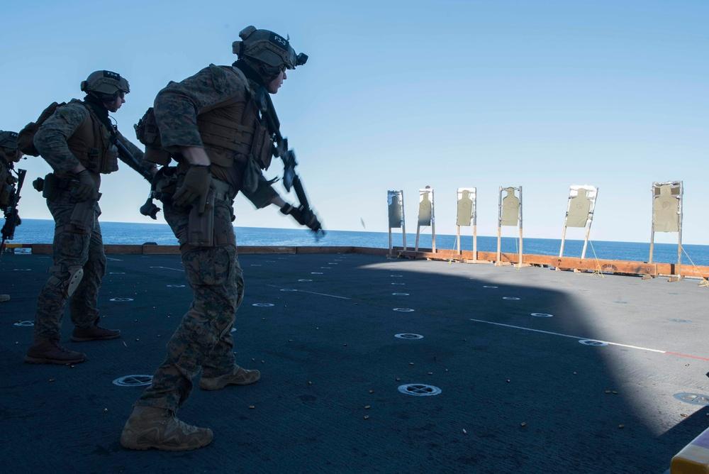31st MEU Gun Shoot Aboard USS Bonhomme Richard (LHD 6)