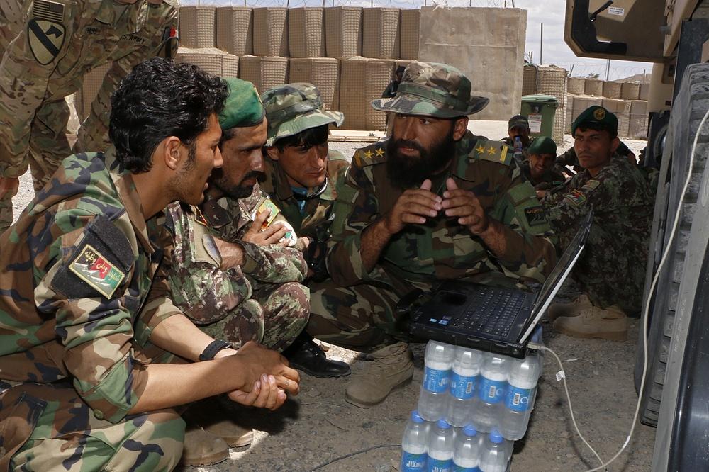 Afghans training Afghans