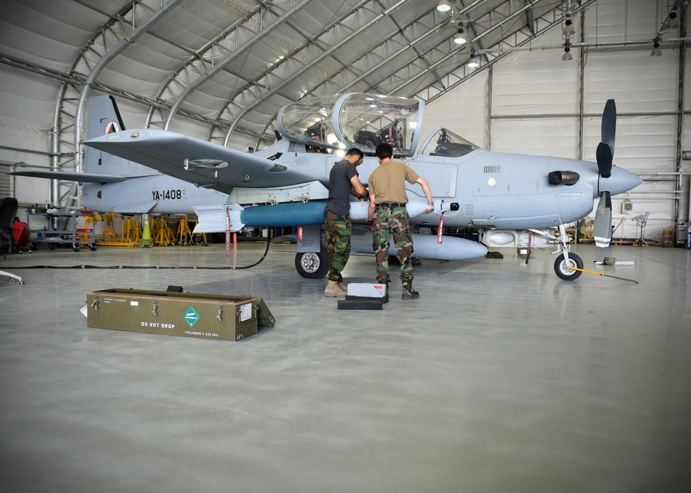 Afghan Air Force takes over A-29 Maintenance Ops