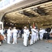 USS Gerald R. Ford's (CVN 78) color guard prepares for the ship's commissioning ceremony