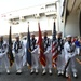 USS Gerald R. Ford's (CVN 78) color guard poses for a group photo prior to the ship's commissioning ceremony