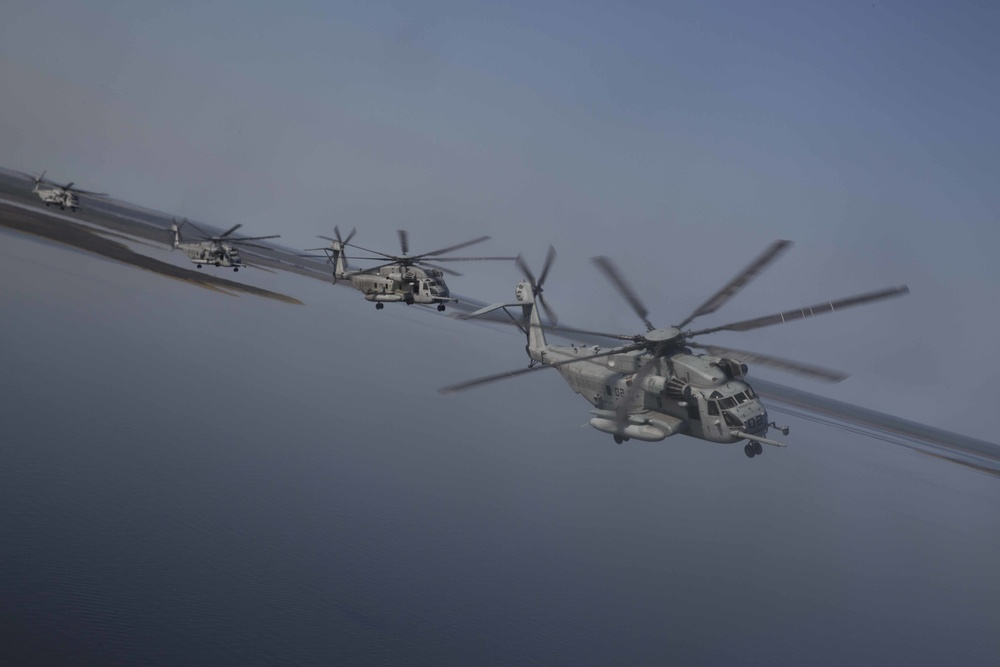 Riding the stallion: HMHT-302 conducts formation flight