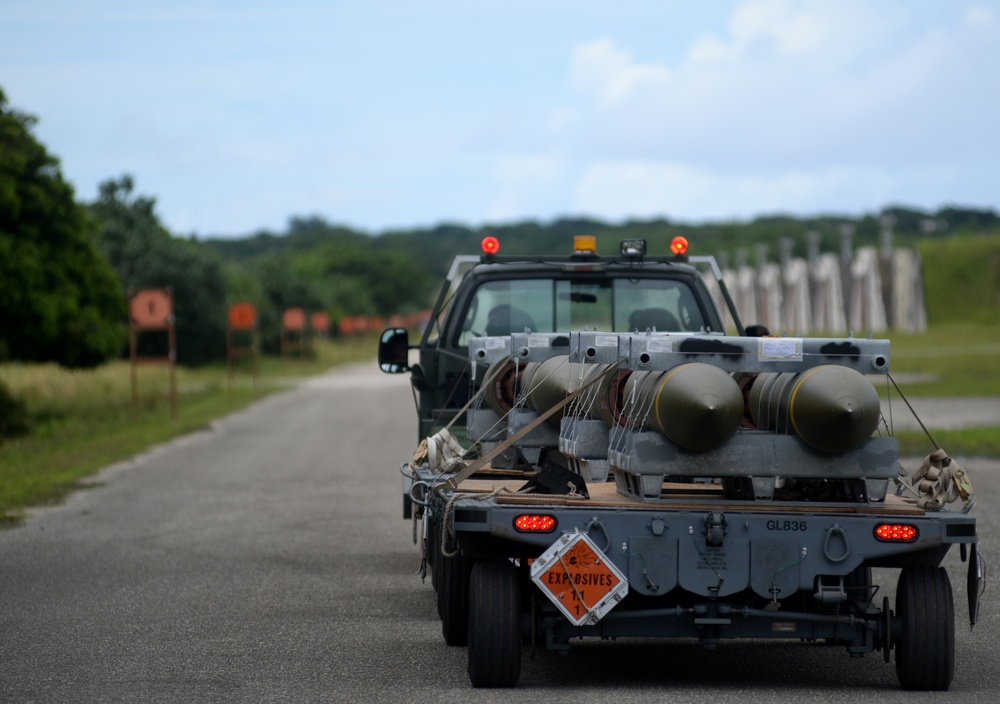 Andersen receives 1.5M pounds of munitions during annual in-shipment