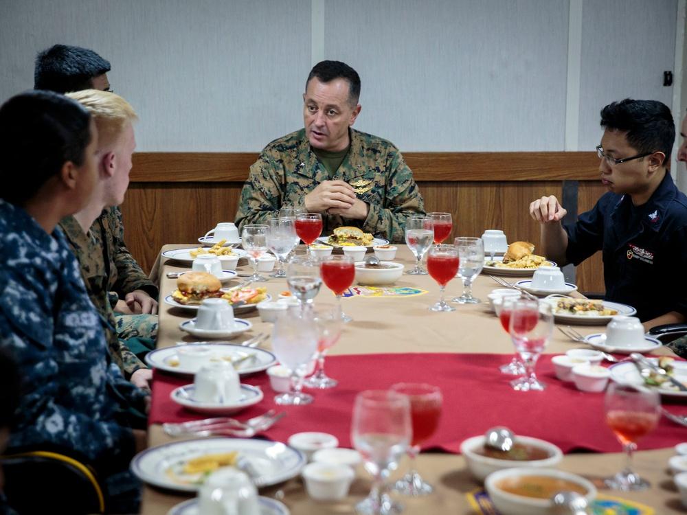 Troop Luncheon With Leadership