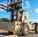 Forklift offloading missile