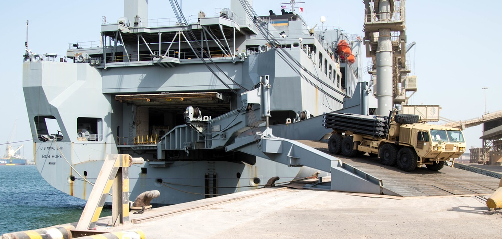 3-1 Cav. Div. offloads equipment for sustainment operations