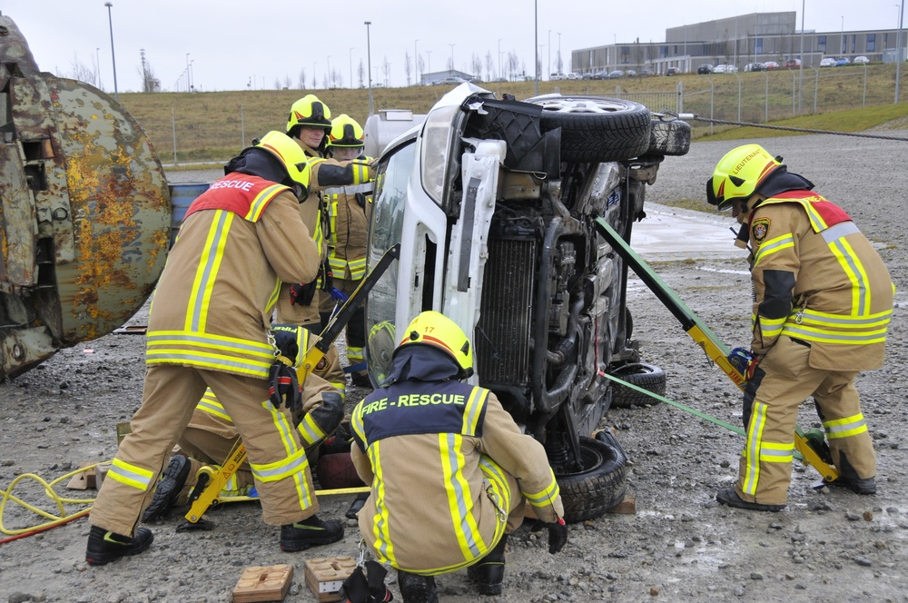 Civilian Firefighters Technical Rescue Training at the Urlas Firefighting Training Center
