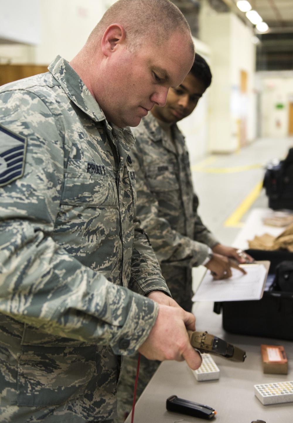 AFOTEC Team Tests New Modular Handgun System
